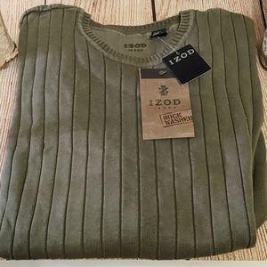 Green Izod Ribbed Sweater NWT
